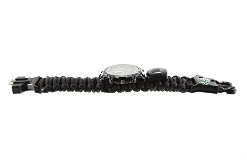 Premium-All-Inclusive-16-in-1-Water-Resistant-Survival-Tactical-Emergency-Watch-Bracelet-Hiking-Camping-Kit-iGuard-550-lb-Military-Grade-Paracord-Fire-Starter-Compass-Thermometer-Whistle-Fishing