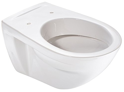 Wand-WC barCa | Flachspüler | Weiß | Toilette | WC | Klo | Bad | Badezimmer | Gäste-WC | Keramik | Hänge-WC