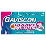 3 x GAVISCON DOUBLE ACTION TABLETS (16 tables)