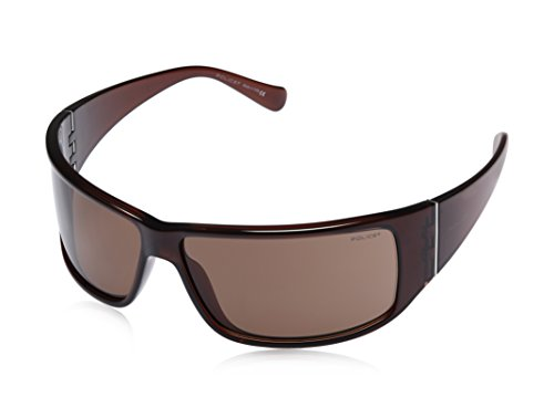 Police Police Rectangular Sunglasses (Brown) (S1532|Z90|Free Size)