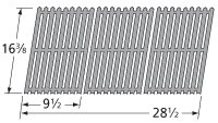 Music City Metals 51343 Stamped Porcelain Steel Cooking Grid Replacement for Select Uniflame Gas Grill Models, Set of 3