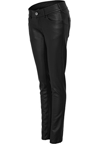 URBAN CLASSICS - Ladies Leather (Black) da imitazione nero M