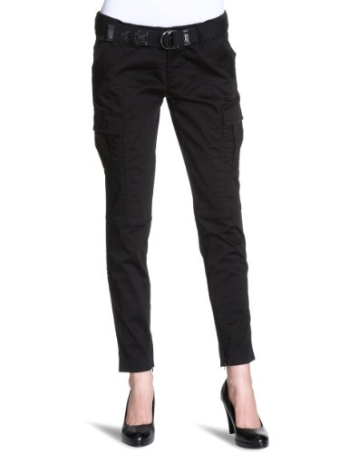 Miss Sixty - Pantaloni capri, donna Nero (Schwarz (G06000 (BLACK))) 40/42 IT (27W/33L)