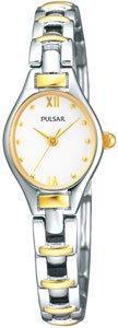 Pulsar by Seiko Ladies Two-Tone Bracelet Watch PC3266X1