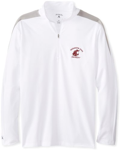 NCAA Men's Washington State Cougars Succeed Jersey Fleece Pullover (White/Silver, Large) Antigua Jackets autotags B005SX1FBW