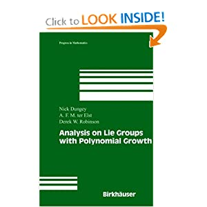 Analysis on Lie groups with polynomial growth Derek Robinson, Nick Dungey