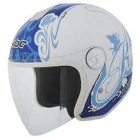 KBC OFS WOMEN LAVENDER_WHITE MOTORCYCLE Open-Face-Helmet