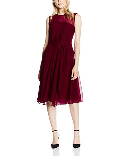 french-connection-winter-ray-chiffon-s-lss-rdnk-vestito-donna-red-zinfandel-36
