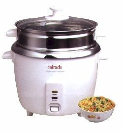 Miracle Exclusives ME81 Stainless Steel Rice Cooker - Steamer from Miracle Exclusives