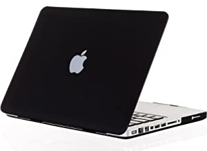 "Kuzy - BLACK Rubberized 13-inch Hard Case Cover for Apple MacBook Pro 13.3"" (A1278 with or without Thunderbolt) Aluminum Unibody - Black"