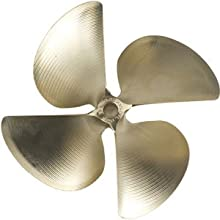 ACME Marine Model 1868 - 1250 x 1425 - 1quot shaft 4 blade RH NiBrAl Propeller with075 cup