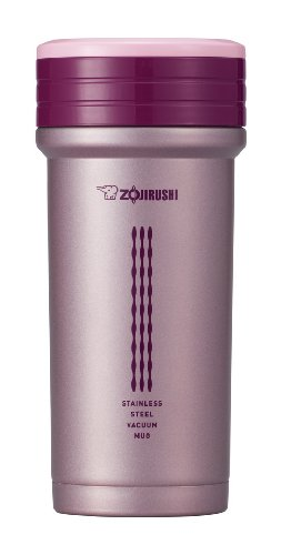 Zojirushi SM-CTE35PB Stainless Mug with Tea Strainer 11 ounce Pink