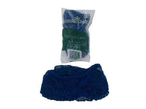 Wholesale Ruffled Lace Edge, Navy Blue - Set of 75, [Sewing & Needlecrafts, Fabric & Trim] dimensions needlecrafts feltworks posie flower