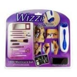 Wizzit Electric Body Hair Remover Trimmer Tweezers Epilator w/ 13-piece Manicure Set (2 x AAA)