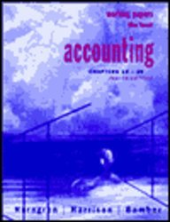 Accounting: Chapters 12-26 : Working Papers