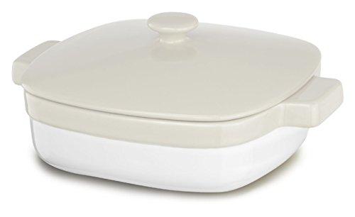KitchenAid KBLR28CRAC Streamline Ceramic 2.8-Quart Casserole Bakeware - Almond Cream