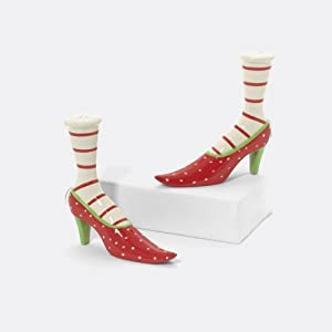 Department 56 Krnkl Highheel Shoe Salt & Pepper Pair