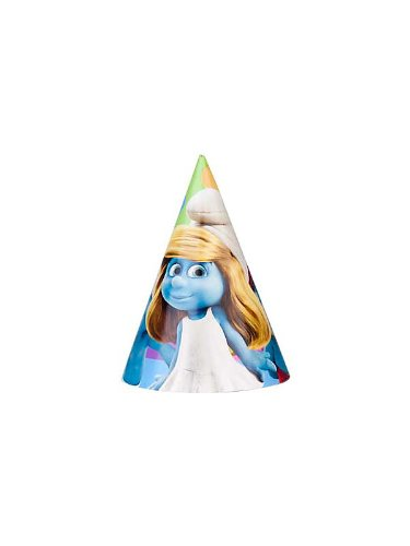 Smurfs Cone Hats (8ct) - 1