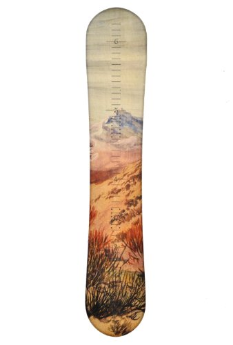 Snowboard Wooden Growth Chart | Wall Hanging Wood Height Chart for Kids, Boys, Girls - Mountain