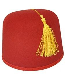 Rubie's Costume Co Durashape Fez Hat- Red Costume
