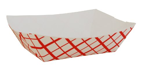 Southern Champion Tray 0413 #100 Southland Paperboard Food Tray, 1 lb Capacity, Red Check (Case of 1000) (1lb Paper Trays compare prices)