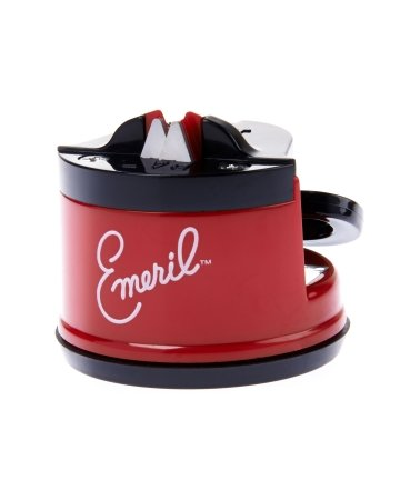 Emeril Knife Sharpener with Suction Pad, Red (Countertop Knife Sharpener compare prices)