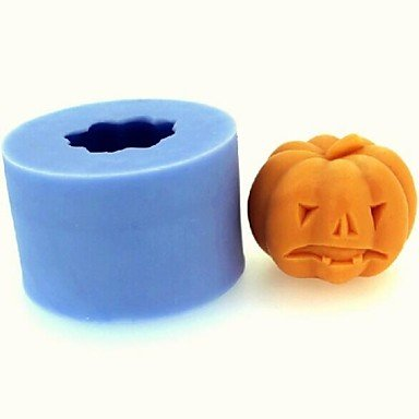 FPP Halloween citrouille fondant moule gâteau au chocolat bougie de silicone, l4.3cm * w4.3cm * h3.4cm