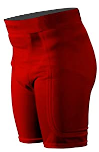 Stromgren Baseball Sliding Short with Anti-Microbial Pads and Cup Pocket (Red, Small)