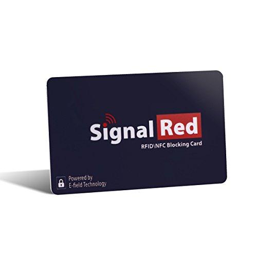 Proteggi Carte di Credito - 1 Scheda Bloccante per RFID Fa Tutto il Necessario per Bloccare i Segnali RFID / NFC da Carta di Credito e Passaporto; Entra nel Portafoglio e nella Borsetta