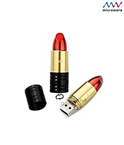Microware 16GB Lipstick ShMicroware Designer Pen Drive