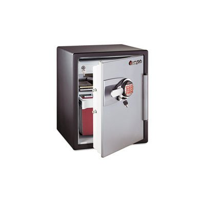 Sentry Oa5848 2-Cubic Feet Electronic Tubular Key Fire Safe, 211-Pound, Black/Gunmetal Gray