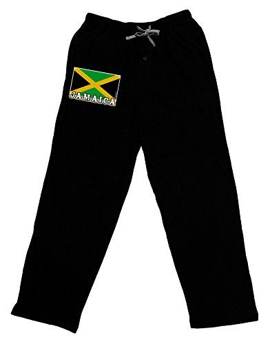 TooLoud Jamaica Flag Dark Adult Lounge Pants - Black- XL (Jamaica Pants compare prices)
