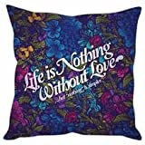 StyBuzz Cushion Cover - Inspirational Quote Floral Multicolour