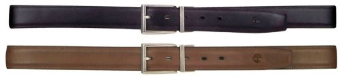 Timberland Feather Edge Stitch Black & Brown Reversible Leather Belt Size 38