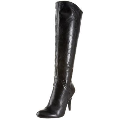 Nine West Women's Trurman Knee-High Boot,Black Leather,5.5 M US