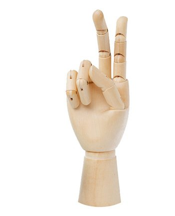 "Манекен для рисования 7"" Wooden Hand Manikin Child Hand, 7 Inches Tall Child Right Hand"