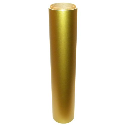 Vinyl Oasis Craft & Hobby Vinyl - Matte Gold Metallic W/ Removable Adhesive - 12 In. X 20 Ft. Roll front-615970