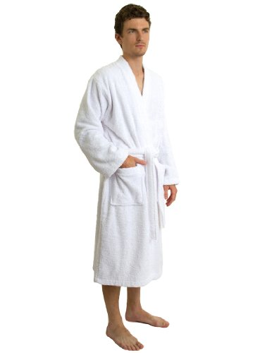 TowelSelections Men's Low Twist Soft Bathrobe Cotton Terry Robe Made in Turkey