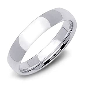 0.925 Sterling Silver Wedding Promise Ring 5mm - Size 12