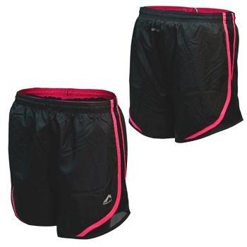 More Mile Ladies More-Tech Training Black/Pink Running Shorts MM1621