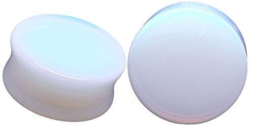 Opalite Organic Stone Ear Plugs Gauges Sold in Pairs (25mm-1 inch) (1 Inch Plugs For Ears compare prices)