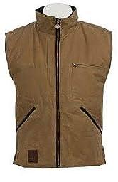 Outback Trading Co Men\'s Co. Sawbuck Flannel Lined Oilskin Vest Tan Medium