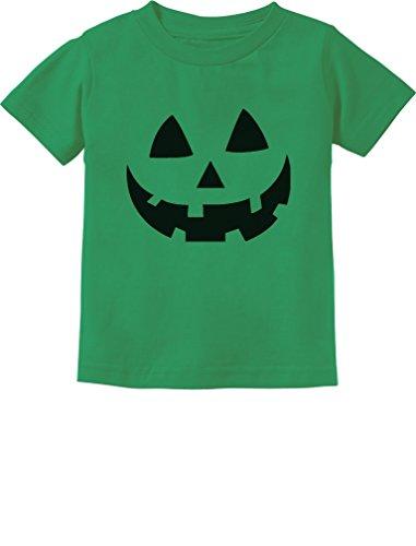 Jack O' Lantern Pumpkin Face Halloween Costume Toddler/Infant Kids T-Shirt 4T Green (Green Lantern Toddler Costume)