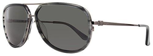 Salvatore Ferragamo Sunglasses SF637SP 003 Gunmetal/Striped Grey 637