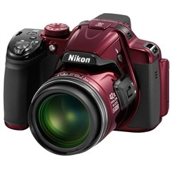 Nikon Coolpix P520 Red 42x optical Zoom Lens Bridge Camera Taxes are Included!