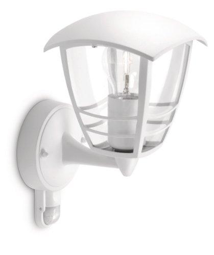 Philips-myGarden-153883116-Creek-Wandleuchte-60W-Hhe-285-cm-wei-Bewegungsmelder