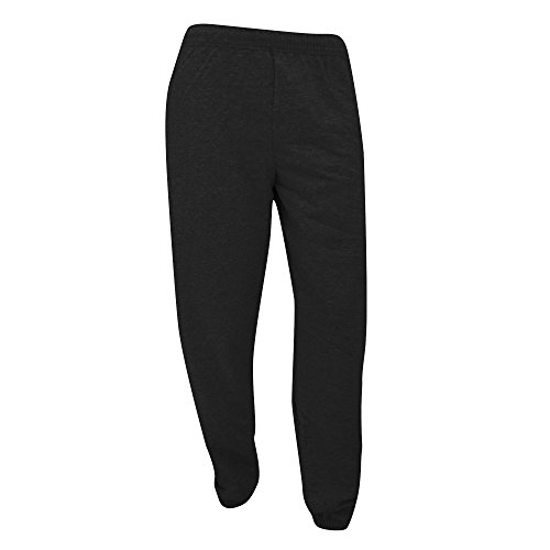 fruit-of-the-loom-mens-elasticated-cuff-jog-pants-jogging-bottoms-s-black
