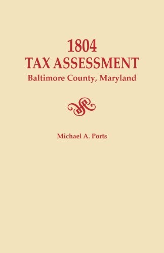 1804 Tax Assessment, Baltimore County, Maryland