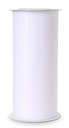 Darice 2912-80 6-Inch-by-25-Yard Tulle, White