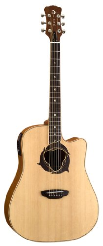 Luna Oracle Series Dolphin Cutaway Acoustic-Electric Guitar - Natural
